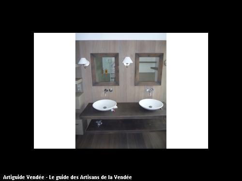 Rénovation d'une salle de bain, réalisée par l'entreprise MARION basée à MONTAIGU